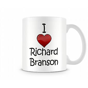 Ik hou van Richard Branson bedrukte mok