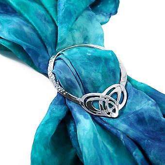 Celtic Trinity Knot Eternity Pewter Scarf Ring
