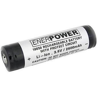 EnerDan UR18650F2、6AH5A P 標準バッテリー (充電式) 18650 リチウム イオン 3.6 V 2600 mAh