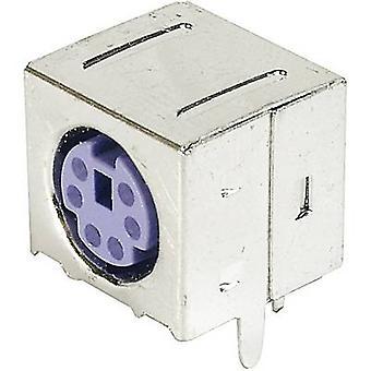 ASSMANN WSW A-DIO-FS06/PURPLE Mini DIN-panel-mounted Socket, Shielded shielded Number of pins: 6