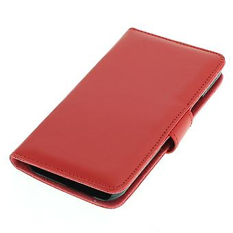 OTB bag (synthetic leather) for HTC One M9 BookStyle Red