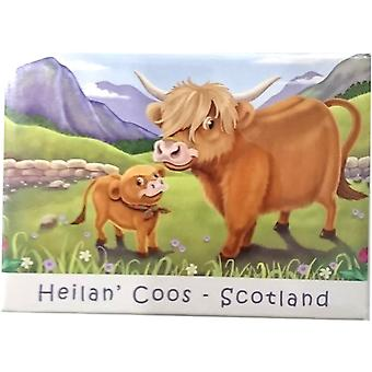 Heilan-apos; Coos Cartoon Magnet par Lyrical Scotland