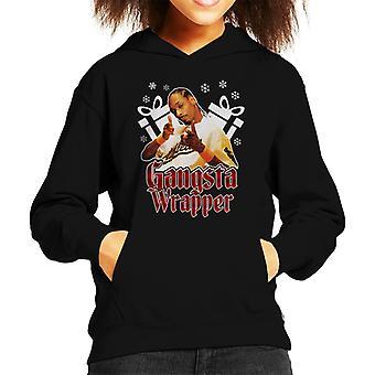 Gangsta Wrapper Snoop Dogg Christmas Kid's Hooded Sweatshirt
