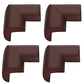 TRIXES 4 sikkerhet L - form skum møbler hjørnet beskyttere Brown