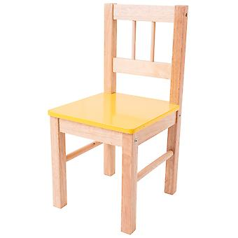 Bigjigs Toys Children's Wooden Yellow Chair Bedroom Nursery Furniture