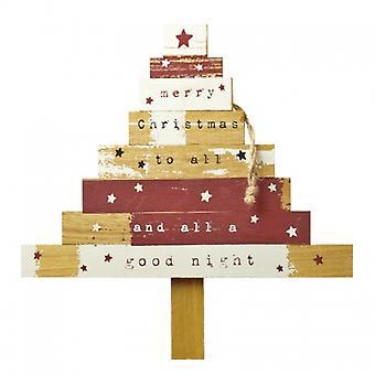 Himmel schickt hölzernen hängenden Weihnachtsbaum Dekoration