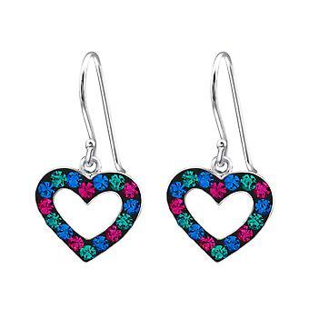 Heart - 925 Sterling Silver Earrings - W18314x
