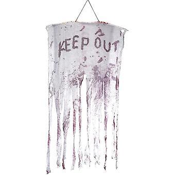 Halten Sie blutige hängende Dekoration, weiße & rot, 90x150cm / 35x59in