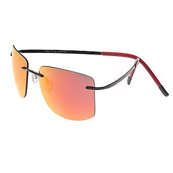 Breed Aero Polarized Sunglasses -Black/Red-Yellow