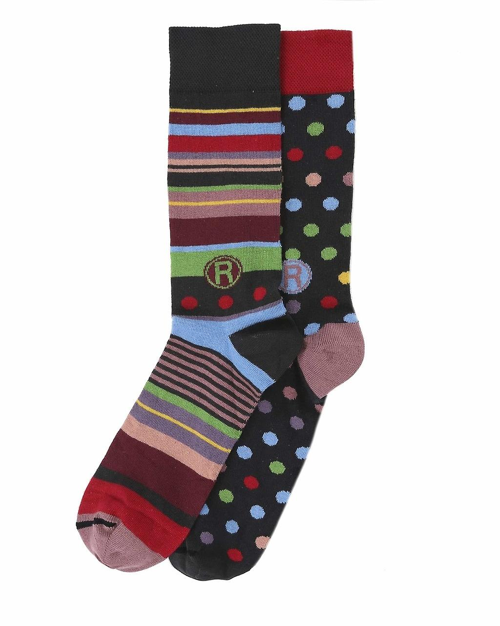 Thought women/'s crazy combed cotton crew socksFrench design by Dub /& Drino