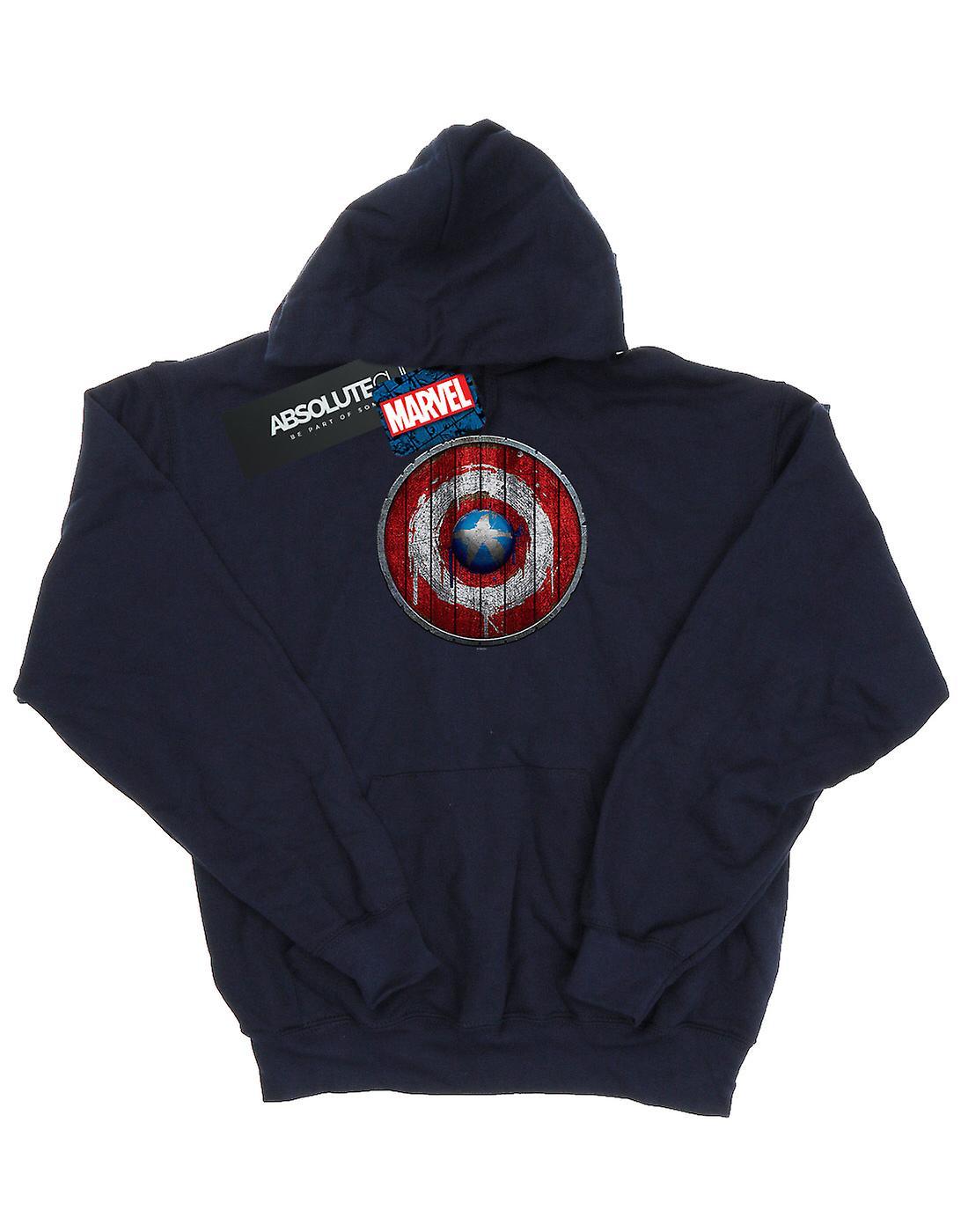 Marvel Boys Captain America Wooden Shield Hoodie