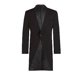 Dobell Herre sort morgen Suit Tailcoat regelmæssig Fit Peak revers klassisk bryllup jakke
