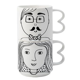 English Tableware Co. Looking Good Mugs His and Hers Set