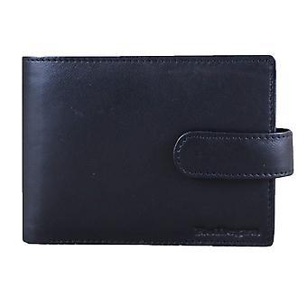 Rallegra Large Multifold Wallet - Black/Orange