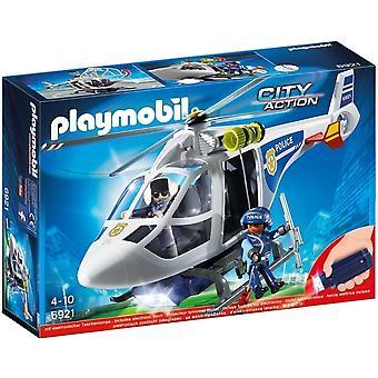 Helicóptero de la policía de Playmobil con reflector de LED 6921