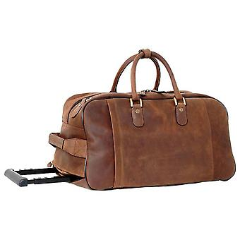 Ashwood nahka Chelsea VEG Tan Albert pyörillä Travel Holdall-MUD Brown