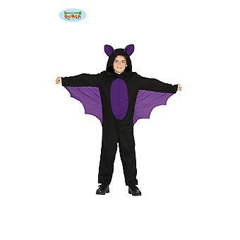 Guirca traje morcego com asas para crianças Halloween