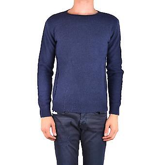 Massimo Rebecchi Ezbc214020 Men's Blue Wool Sweater