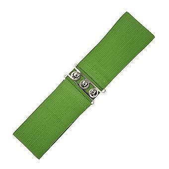 Días de baile cinturón elastizado Vintage de oliva L