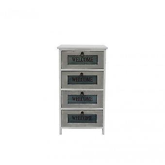 Furniture Rebecca CassettiA 7mino 4 White Wood Drawers Retro 73x40x29