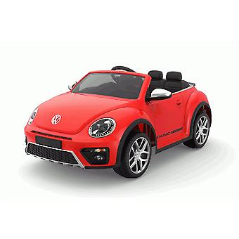 Licensed VW Volkswagen Beetle Dune 12V Kids Electric Ride On Car Red