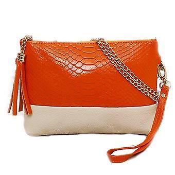 Ladies vintage gold chain croc style pu leather evening clutch shoulder bags