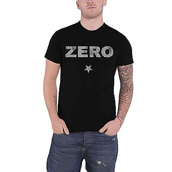 Smashing Pumpkins T Shirt Zero Band Logo distressed new Official Mens Black