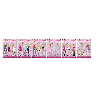 Barbie 3d Glow In The Dark Wall Decoration Assorted Barbie Height 14cm