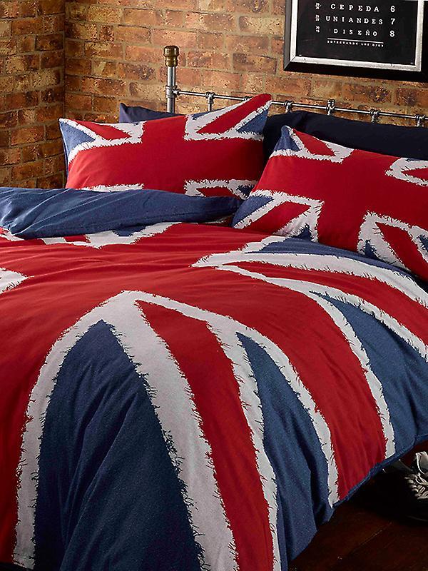 Union Jack Duvet Cover and Pillowcase Set