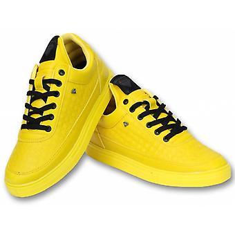أحذية - حذاء رياضي منخفض خلية نحل صفراء - أصفر