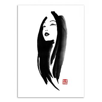 Art-Poster - Woman portrait - Pechane Sumie