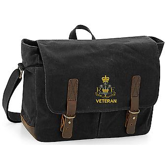 Royal Monmouthshire Royal Engineer Veteran - Licensed British Army Embroidered Waxed Canvas Messenger Bag