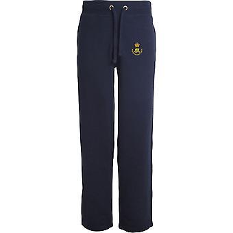 Royal Waggon Zug - lizenzierte britische Armee bestickt offenen Saum Sweatpants / Jogging Bottoms