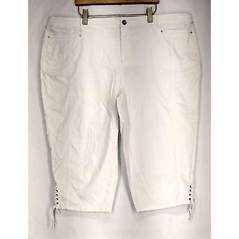 Stile & Co. Plus Pantaloni Panmmy Controllo Capri Bianco Donne