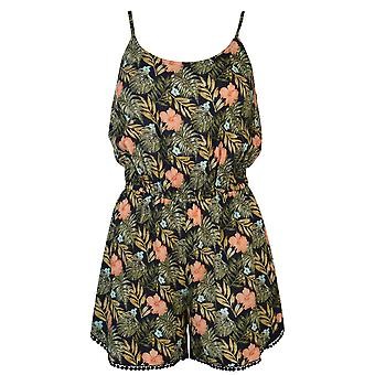 Golddigga Womens Print Playsuit Ladies Sleeveless