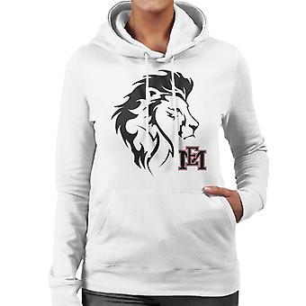 East Mississippi Community College Lion Head Logo Women's Hooded Sweatshirt