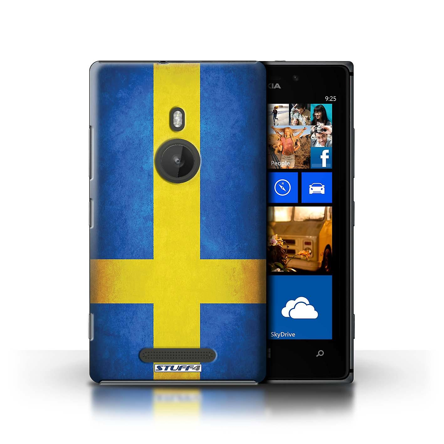 STUFF4 Case/Cover for Nokia Lumia 925/Sweden/Swedish/Flags