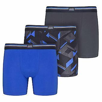Jockey Cotton Stretch 3-pakkaus bokserit, sininen Ioliitti, pieni