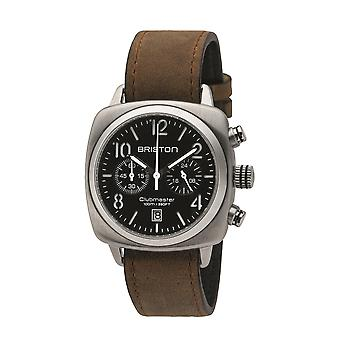 Briston 16140.S.C.1.LVBR Clubmaster Classic Chronograph Steel Wristwatch