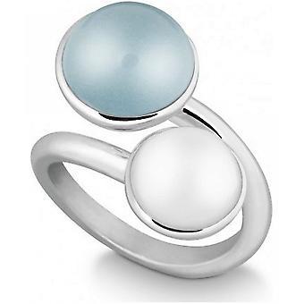 QUINN-ring-kvinder-sølv 925-ædelsten-blå topas-bredde 56-21057658