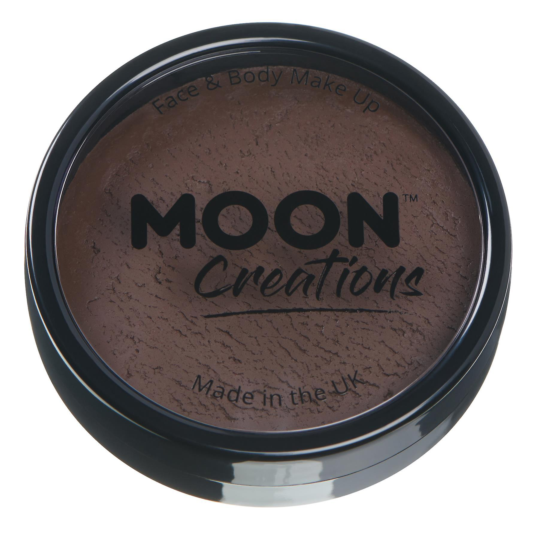 Moon Creations - Pro Face & Body Paint Cake Pots - Dark Brown