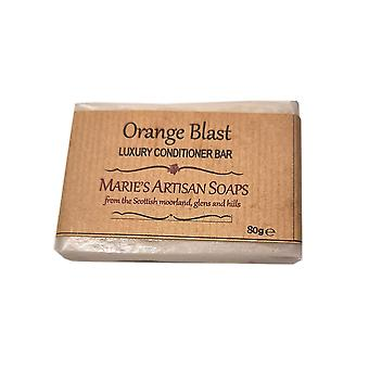 Marie ' s Artisan tvålar handgjorda vegan hår Konditionerings bar 80g-Orange Blast