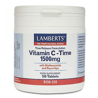 Lamberts Time Release Vitamin C 1500mg Tablets 120 (8136-120)
