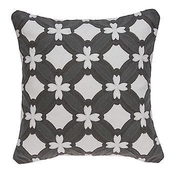 """20"""" x 0.5"""" x 20"""" Cubierta de almohada gris y blanca de transición"""