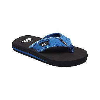 Quiksilver Monkey Abyss Youth Flip Flops in Blue/Black/Blue
