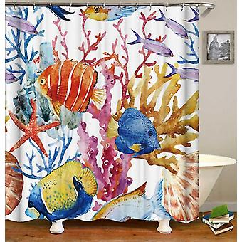 Colorful Coral And Fish Shower Curtain
