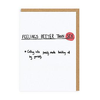 Ohh Deer Feelings Better Than Sex Greeting Card