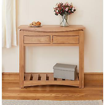 Baumhaus Roscoe Contemporary Oak Console Table