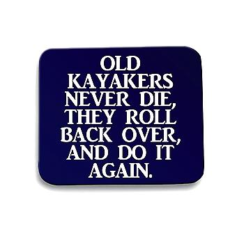 Navy navy blue mouse pad gen0332 old kayakers never die