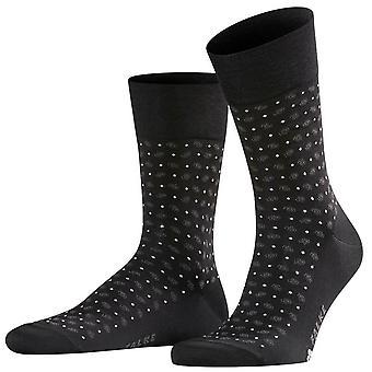 Falke Sensitive Jabot sokken-zwart